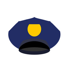 Police cap isolated hat cop officer accessory vector