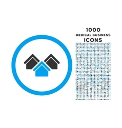 Real Estate Rounded Icon with 1000 Bonus Icons vector