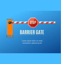Realistic detailed 3d barrier gate concept ad vector