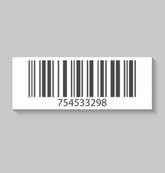 retail barcode isolated icon vector image