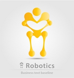 Robot and robotics business icon vector