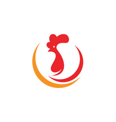 Rooster logo template icon vector