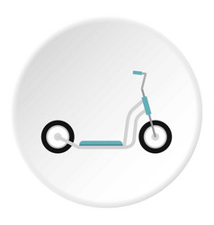 Scooter icon circle vector