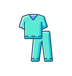 Scrub suit rgb color icon vector