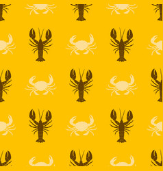 seamless pattern with seafood vector image