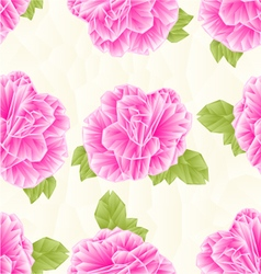 Seamless texture Camellia Japonica pink flower vector