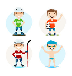 set of of a boy vector image