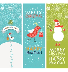 Set of vertical Christmas and New Year banners vector image