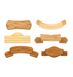 set wooden planks or vector image