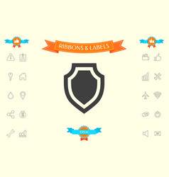 shield - protection icon vector image