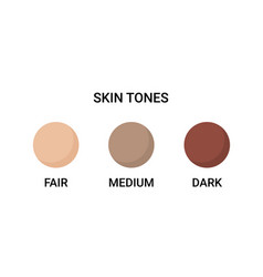 Skin tone color scale chart brown palette vector