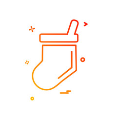 socks icon design vector image