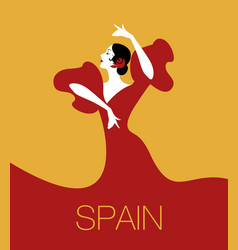 Spanish flamenco dancer vector