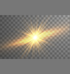 sunlight special lens flash light effect on vector image