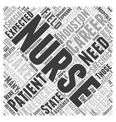 The Different Nursing Careers in Houston Word vector