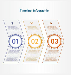 Timeline or area chart template infographics 3 vector