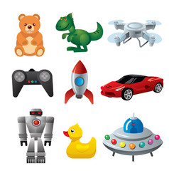 toys for babies and child vector image