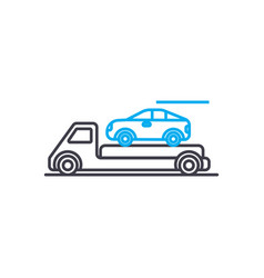 transportation of cars thin line stroke vector image