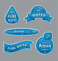 water labels and stickers vector image