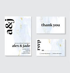 wedding alcohol ink splash invitation vector image