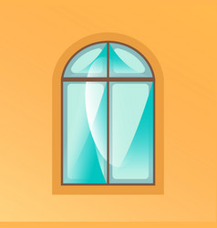 window on yellow background vector image