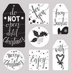 Winter tag set vector