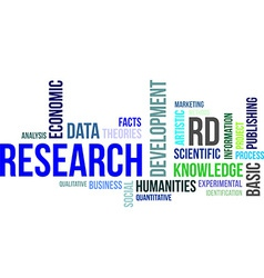 Word cloud research vector