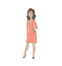 young hispanic woman giving thumb up vector image