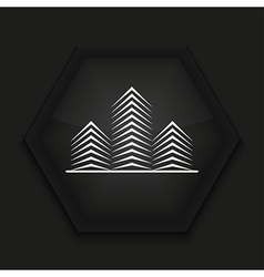 creative icon on black background Eps10 vector image vector image