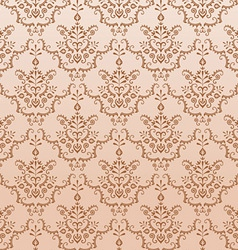 golden seamless damask pattern vector image