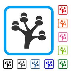 money tree framed icon vector image