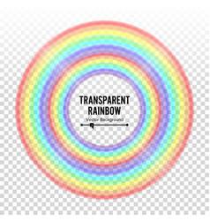rainbow circle element color spectrum vector image vector image