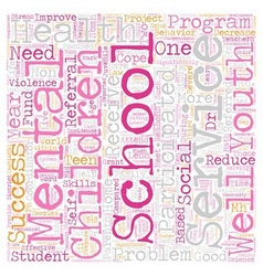 School based mental health services reduce school vector