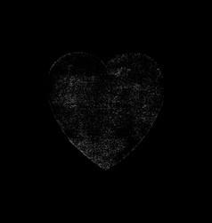 white heart symbol watercolor texture vector image vector image