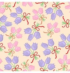 bouquet pattern pastel vector image vector image