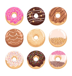 Donuts collection part 1 vector image vector image