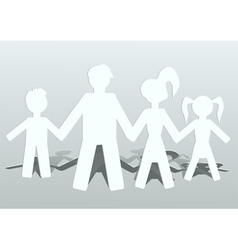 family of four vector image vector image
