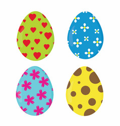 nice easter eggs vector image