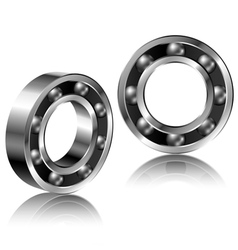 Realistic bearing set vector image vector image