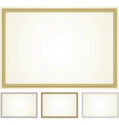 set of ornament frames vector image vector image