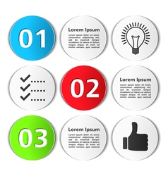 Design Template with Circles vector image
