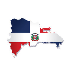Dominican republic flag amp map vector