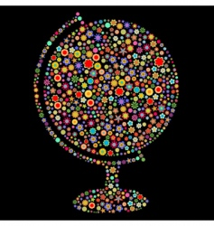 globe shape vector image vector image