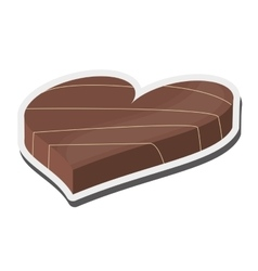 heart shaped decorated candy chocolate icon vector image vector image