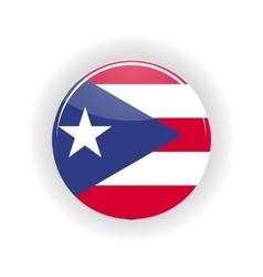 Puerto Rico icon circle vector image
