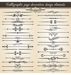 Calligraphic vintage page decoration design vector image vector image