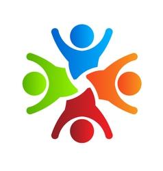 Happy Party 4 logo design element vector image vector image