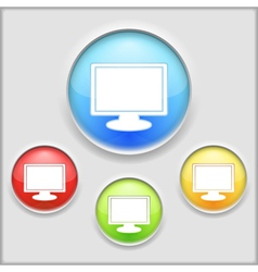 Icon of a computer vector image vector image