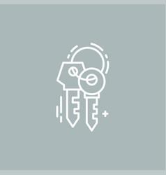 line keys logo vector image