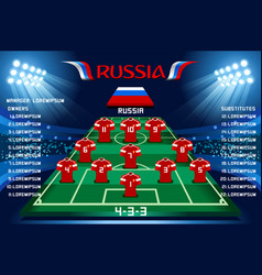 soccer starting lineup squad vector image vector image